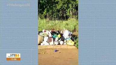 Morador denuncia problemas com a falta de coleta de lixo em Luzimangues - Morador denuncia problemas com a falta de coleta de lixo em Luzimangues