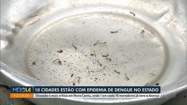 Dez cidades estão com epidemia de dengue no PR - Dados são da Sesa.