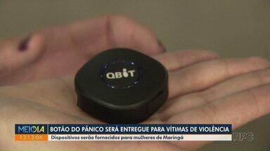 'Botão do pânico' será entregue para vítimas de violência - Dispositivo será destinado a mulheres com medidas protetivas em Maringá.