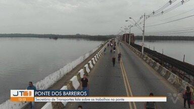 Secretário de Logística e Transporte de SP fala sobre trabalhos na Ponte dos Barreiros - Secretario João Octaviano Machado Neto afirma estar confiante na reabertura parcial da Ponte dos Barreiros em São Vicente.