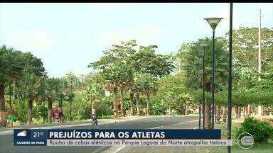 Furtos de fiação no Parque Lagoas do Norte prejudica a prática de esportes - Furtos de fiação no Parque Lagoas do Norte prejudica a prática de esportes