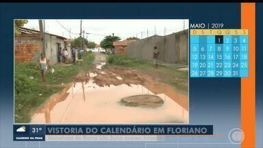Moradores de bairro em Floriano querem limpeza e drenagem de rua - Moradores de bairro em Floriano querem limpeza e drenagem de rua