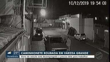 Câmeras registram roubo de caminhonete em VG - Câmeras registram roubo de caminhonete em VG.