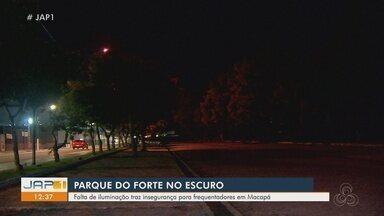 Falta de iluminação traz insegurança para frequentadores ao redor da Fortaleza de São José - Falta de iluminação traz insegurança para frequentadores ao redor da Fortaleza de São José