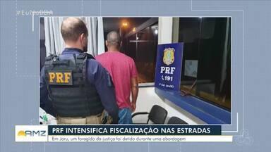 PRF intensifica fiscalização nas rodovias de RO - Foragido da Justiça foi detido durante abordagem em Jaru.
