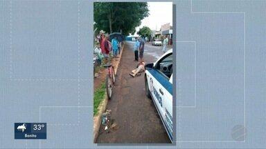 Menina de 3 anos jogada contra o chão está internada em estado grave - Segundo o boletim de ocorrência, a equipe da Guarda estava na região e foi acionada por moradores porque um homem de 34 anos pegou a criança que estava em um carrinho de bebê, levantou e a soltou de cabeça.