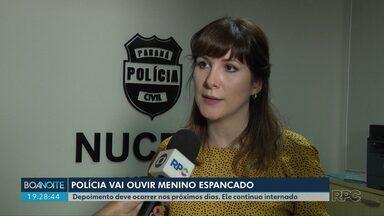 Delegada do Nucria vai ouvir menino espancado pelos pais em Londrina - Menino tem oito anos, foi adotado há dois meses e está se recuperando em um hospital da cidade