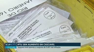 IPTU terá apenas o reajuste da inflação em 2020 - Vereadores de Cascavel se comprometeram a economizar R$3 milhões de reais para não precisar aumentar impostos