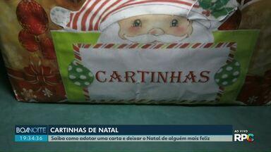 Crianças podem fazer pedidos de Natal na casinha do Papai Noel em Cascavel - As cartinhas podem ser adotadas até o dia 20 de dezembro.
