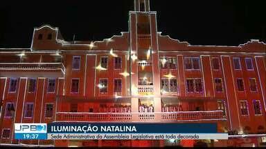 JPB2JP: Sede Administrativa da Assembleia Legislativa está toda iluminada - Decoração natalina.