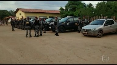 Soldados da Força Nacional chegam à região onde guajajaras foram mortos - A área é alvo da ação de grileiros e madeireiros. A Força Nacional deve permanecer na região por três meses.