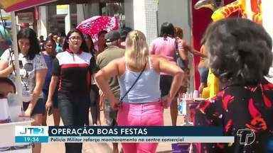 Polícia Militar reforça monitoramento no centro comercial de Santarém - Operação é devido as festas de fim de ano.