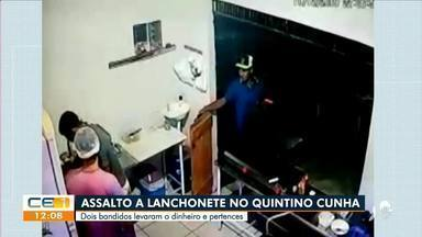Lanchonete é assaltada no Quintino Cunha - Saiba mais no g1.com.br/ce