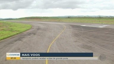 Aeroporto de Varginha tem pista ampliada e poderá receber aviões de grande porte - Aeroporto de Varginha tem pista ampliada e poderá receber aviões de grande porte