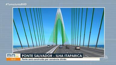 Ponte Salvador-Itaparica vai ser construída por consórcio chinês - A licitação foi acompanhada pelo governador Rui Costa e por secretários do governo baiano, em SP.