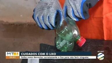 Cuidados com o lixo - Saiba como descartar corretamente o lixo para não ferir ninguém