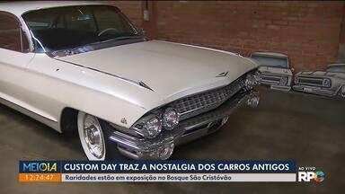Bosque São Cristóvão tem exposição de carros antigos customizados - As raridades ficam expostas neste sábado (14) e domingo (15).