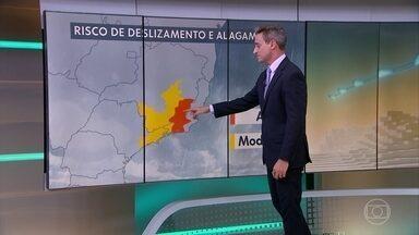 Chuva forte continua atingindo boa parte do país - Riscos de deslizamento e alagamento são altos em parte do Sudeste