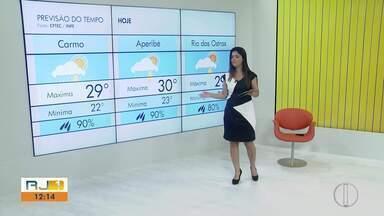 Confira a previão do tempo para as cidades do interior do Rio - Veja a mínima e máxima da temperatura.