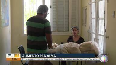 RJ1 acompanha preparativos para ceia de Natal para pessoas em situação de rua, em Campos - Boa ação acontece neste sábado (14).