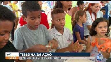 Crianças trabalham atividades motoras de forma lúdica no Teresina em Ação - Crianças trabalham atividades motoras de forma lúdica no Teresina em Ação