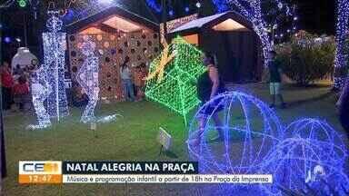 Programação de Natal gratuita na Praça da Imprensa - Confira mais notícias em g1.globo.com/ce