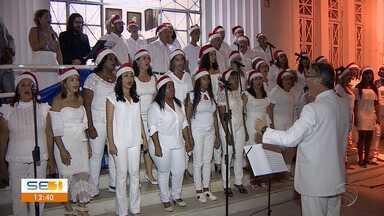 Instituto Histórico e Geográfico de Sergipe realiza cantata de Natal - Instituto Histórico e Geográfico de Sergipe realiza cantata de Natal.