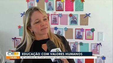 Professores da rede pública do Crato fazem formação em Valores Humanos - Saiba mais no g1.com.br/ce