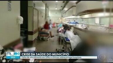 Crise na saúde do município - Com atendimento precário em outras unidades, hospitais que têm médicos com salários em dia estão superlotados.