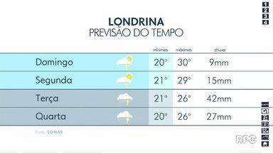 Londrina terá tempo instável neste domingo (15) - Previsão aponta chuva nos próximos dias