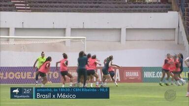 Amistosos da seleção feminina de futebol ocorre em Araraquara, SP - Partida contra o México será no domingo (15)
