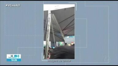 Mais de 30 pessoas ficam feridas em desabamento de estrutura de show infantil em Belém - Mais de 30 pessoas ficam feridas em desabamento de estrutura de show do Mundo Bita em Belém