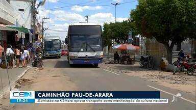 Comissão da Câmara aprova transporte de romeiro no pau-de-arara - Saiba mais no g1.com.br/ce