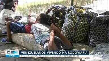 Família da Venezuela está morando na rodoviária de Fortaleza - Saiba mais no g1.com.br/ce