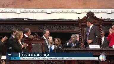 Ex-deputados soltos por erro da Justiça, voltam para a prisão - Edson Albertassi e Paulo Melo deixaram o sistema prisional nesta sexta-feira (13) e voltaram no manhã deste sábado (14).