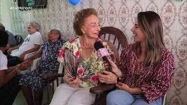 """Jamile Pavlova visita instituição de idosos junto ao """"Projeto Give"""" - """"Solar da Vovó"""" recebe ajuda de voluntários"""