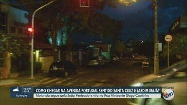Transerp faz interdição na Avenida Portugal para obras de mobilidade em Ribeirão Preto - Cruzamento da Avenida Antônio Diederichsen e da Rua João Penteado será alterado a partir desta terça-feira.