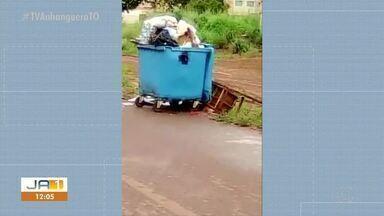 Moradores denunciam falta de coletores de lixo no Setor Janaína - Moradores denunciam falta de coletores de lixo no Setor Janaína
