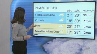 Confira a previsão do tempo na região para esta terça-feira - Veja as temperaturas.