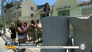 RJ Móvel em Cascadura, nessa terça-feira (17) - Os moradores cobram o retorno das obras de canalização de um valão