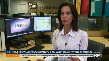 Escolas privadas oferecem mais de 1.700 vagas para a prefeitura de Maringá - Meta do município é comprar 2 mil vagas para alunos da rede municipal de ensino.
