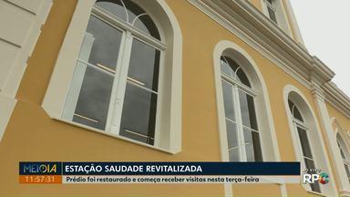 Estação Saudade, em Ponta Grossa, começa a receber visitas nesta terça-feira (17) - Prédio passou por restauração e reabriu nesta semana, no Centro.