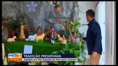 Presépio é montado em São Gonçalo do Pará e pode ser visitado até janeiro - Exposição com a sagrada cena do nascimento do menino Jesus está aberta a visitação na Rua Coronel Pedro Teixeira de Menezes, com entrada gratuita.