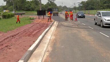 Obras na Rodovia Índio Tibiriçá devem ser entregues em junho de 2020 - Trabalhos são para recuperação do asfalto e sinalização da rodovia que é um dos acesso para o ABC Paulista.