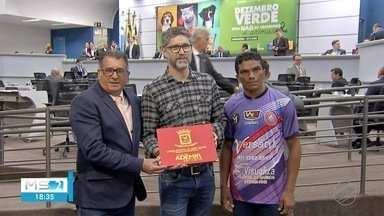 TV Morena é homenageada pelo apoio ao futebol amador - Em Campo Grande.