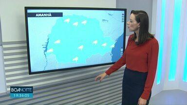 Previsão de pancadas fracas e isoladas de chuva para esta quarta-feira - Temperaturas ainda não sobem muito.