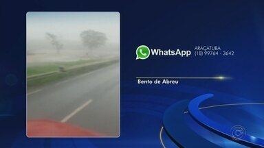 Rodovia de Bento de Abreu alga após chuva na cidade - A rodovia Marechal Rondon, em Araçatuba (SP) ficou alagada nesta terça-feira (17) após uma chuva na cidade.