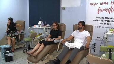 Funcionários da Justiça Federal doam sangue em Juazeiro do Norte - Confira mais notícias em g1.globo.com/ce