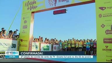 Sexta edição da corrida de verão da TV Gazeta Sul será no dia 25 de janeiro - Inscrições começam nesta quarta.