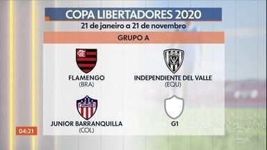 Conmebol sorteia grupos da Libertadores 2020 - A entidade também definiu quais serão os confrontos da primeira fase da Copa Sulamericana do ano que vem.